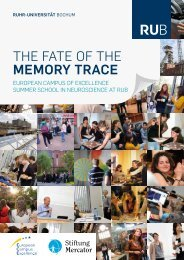 the fate of the memory trace - Stiftung Mercator