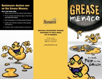 Grease Menace brochure - City of Bremerton