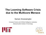 The Looming Software Crisis due to the Multicore Menace