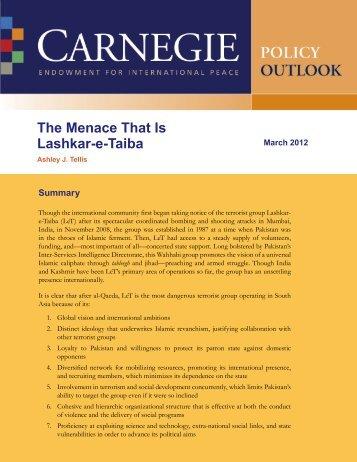 The Menace That Is Lashkar-e-Taiba - Carnegie Endowment for ...