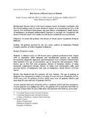Risk factors of Breast Cancer in Bahrain - Bahrain Medical Bulletin