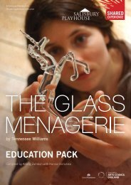 'The Glass Menagerie' Education Pack - Shared Experience