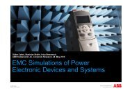 EMC Simulations of Power Electronic Devices and Systems - serec
