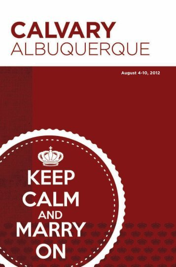 ORLD; OUGH RLD. - Calvary Albuquerque