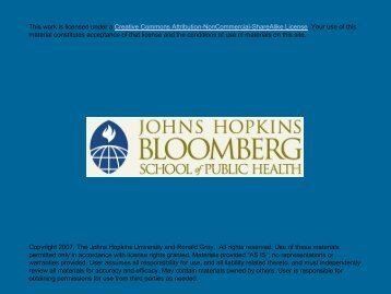 Lecture 1 - jhsph ocw - Johns Hopkins Bloomberg School of Public ...