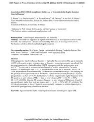 1 Association of Q223R Polymorphism with the Age of Menarche in ...