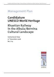 Management Plan | Candidature UNESCO World Heritage - RhB