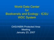 World Data Center for Biodiversity and Ecology - Organization of ...