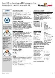 Hesse PUR multi-coat lacquer DE 51 x(degree of ... - Hesse Lignal