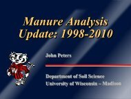 Manure Analysis Update: 1998-2010 - Department of Soil Science ...
