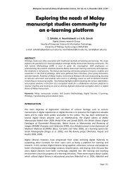 Exploring the needs of Malay manuscript studies ... - arXiv.org