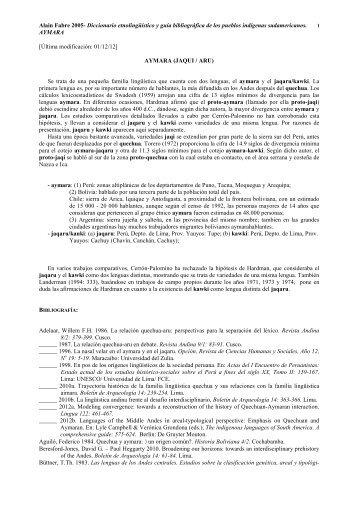 Diccionario etnolingüístico y guía bibliográfica de los pueblos