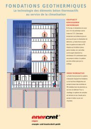 Fondations Geothermiques