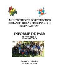 informe de pais: bolivia - Disability Rights Promotion International ...