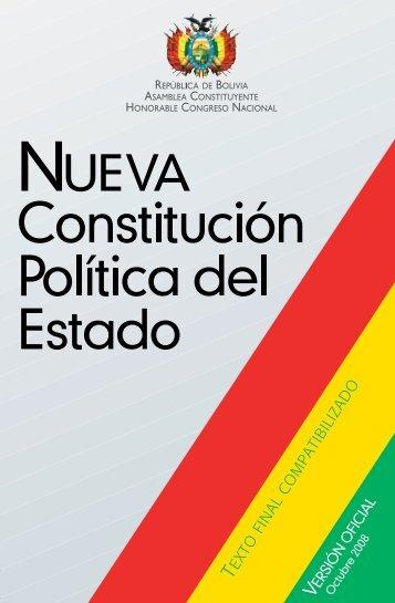 Constitucion Politica del Estado - ministerio de mineria y metalurgia