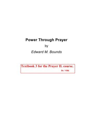 Power Through Prayer - Salt Lake Bible College