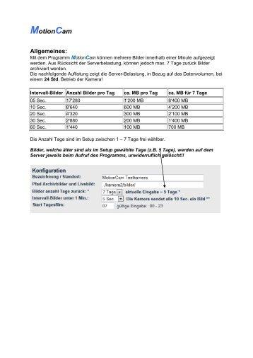 MotionCam - Repro Schicker AG