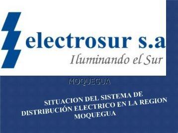 Situación Sistema Distribucion Eléctrico - Osinergmin