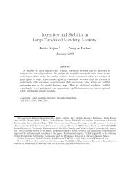 Incentives and Stability in Large Two-Sided Matching Markets ∗