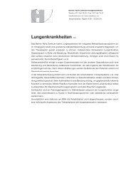 Lungenkrankheiten 1/2 - Berner Reha Zentrum