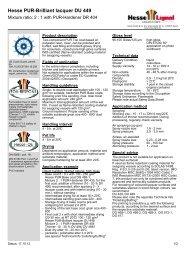 Hesse PUR-Brilliant lacquer DU 449 - Hesse Lignal