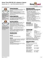 Hesse Thixo-PUR DE 433 -x(degree of gloss) - Hesse Lignal