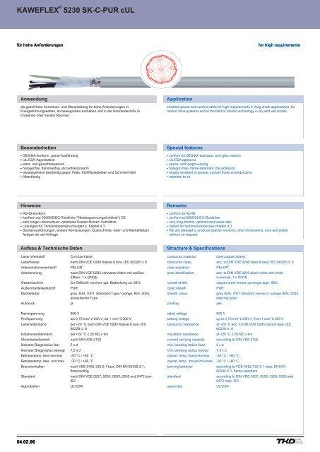 KAWEFLEX 5230 SK-C-PUR cUL KAWEFLEX 5230 SK-C-PUR cUL