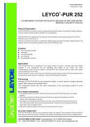 LEYCO -PUR 252 - LEYCO CHEMISCHE LEYDE GmbH