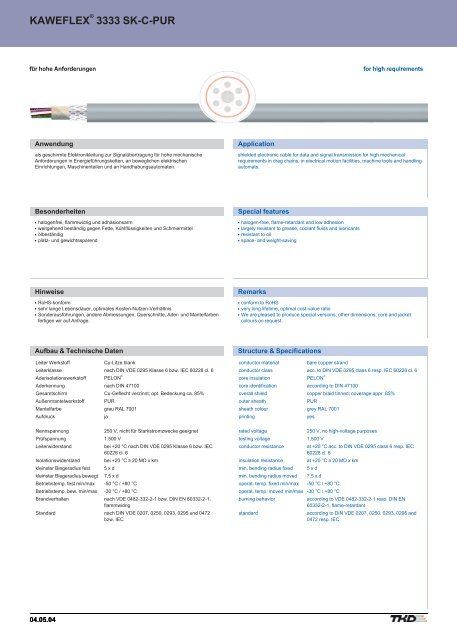 KAWEFLEX® 3335 SK-C-PUR, für hohe Anforderungen