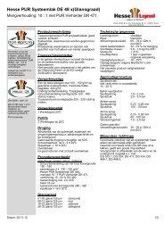 Hesse PUR Systeemlak DE 48 x(Glansgraad) - Hesse Lignal