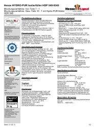 Hesse HYDRO-PUR Isolierfüller HDP 540-9343 - Hesse Lignal