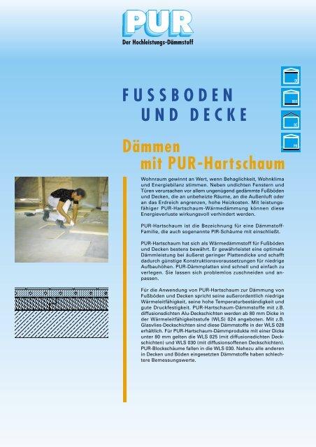 Fussboden Und Decke Dammen Mit Pur Hartschaum