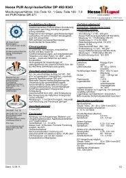 Hesse PUR Acryl-Isolierfüller DP 492-9343 - Hesse Lignal