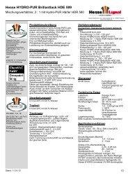 Hesse HYDRO-PUR Brillantlack HDE 599 - Hesse Lignal