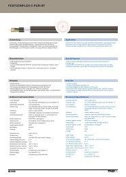festoonflex c-pur-hf festoonflex c-pur-hf - TKD KABEL GmbH