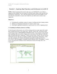 Tutorial 2 – Exploring Map Projections and Grid Systems in ArcGIS 10