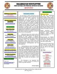 balabhavan newsletter - Shiva Vishnu Temple