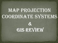 map projection coordinate systems - Louisiana Tech University