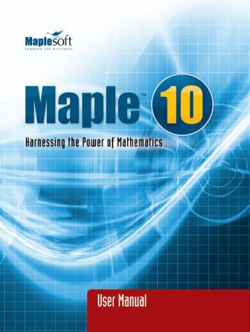 Maple User Manual - SERC