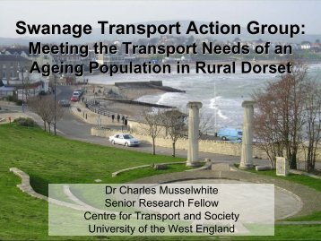 Swanage Transport Action Group - University of Plymouth