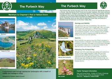 The Purbeck Way The Purbeck Way - Walk and Cycle Britain