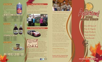 Syrup Brochure - Anderson's Maple Syrup