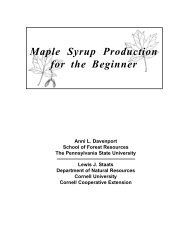 maple syrup production - Cornell Sugar Maple Research ...