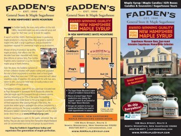 maple syrup - Fadden's Sugar House