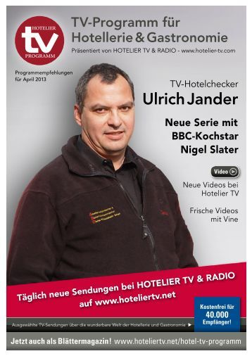 HOTEL TV PROGRAMM – April 2013