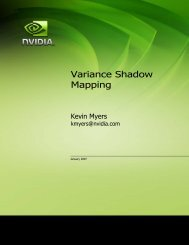 Variance Shadow Mapping - Nvidia