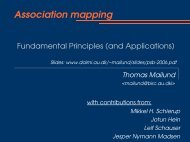 Association Mapping: Fundamental Principles and Applications