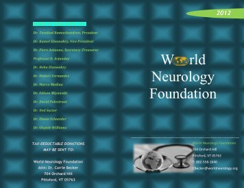 W rld Neurology Foundation - World Neurology Foundation
