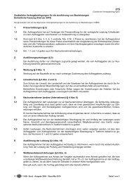 Zusätzliche Vertragsbedingungen für die Ausführung von ...