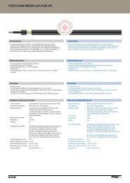 festoonfiberflex pur-hf festoonfiberflex pur-hf - TKD KABEL GmbH